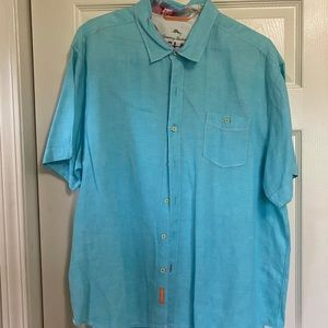 Tommy Bahama Men's Blue Shirt- Size XXL